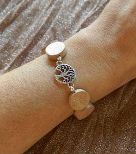 Holzscheiben Armband mit Lebensbaum