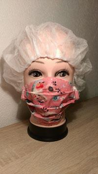 Behelfs-Mundschutz Maske mit Klettverschluss besonders geeignet für Hörgerät Träger oder zum Skifahren für Helmträger