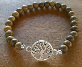 Holzsperlen Armband mit Lebensbaum