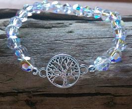 Original Swarovski Glas Perlen Armband mit Lebensbaum