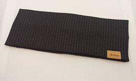 "Stirnband ""Waffel Jersey"" schwarz"