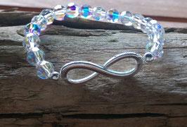 """Original Swarovski Glas Perlen Armband mit """"Infinity-Unendlichkeitssymbol"""""""