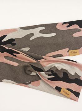 """Knotenstirnband & Stirnband """"Camouflage"""""""