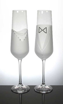 CHAMPAGNE GLASS WEDDING SET 200 ML