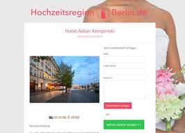 Anbieter-Präsenz auf Hochzeitsregion-Berlin.de