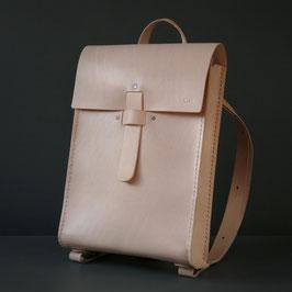 saga ladies leather backpack - natural / beige