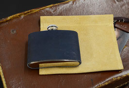 luxury leather covered hip flask
