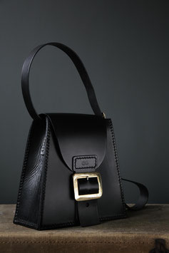 platform leather satchel