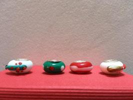 Perles en verre soufflé compatible avec un bracelet de marque bien connue