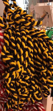 Cordon noir et jaune