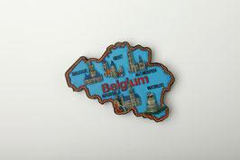 Magnet Carte de Belgique et monuments