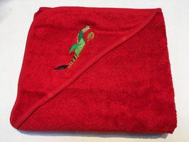 Cape de bain brodée avec le dragon