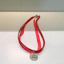 """Collier médaille """"C'est L'Doudou"""""""