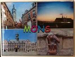 Magnet 4 vues de Mons