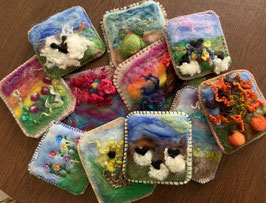 Learn how to create a needle felted picture with Mona Robles