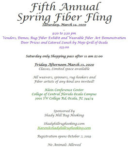 Fifth Annual Spring Fiber Fling Saturday March 14, 2020