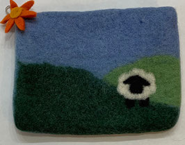 Felted Pouch - Daytime scene