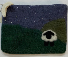 Felted Pouch - Nightime scene