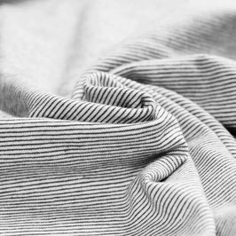 Jersey - Mini Streifen Schwarz Weiß
