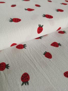 Baumwolle Erdbeeren Vorgewaschen