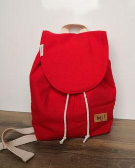 Kinderrucksack - Rotes Rot - Streifen Dunkelgrau