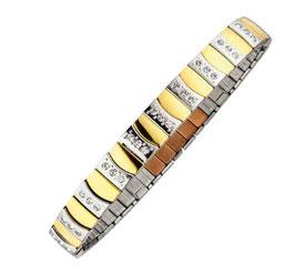 Bracelet flexi magnétique bicolore [4457]