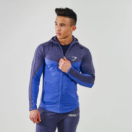GymShark Fit Hooded Top V2 Navy / Light Blue