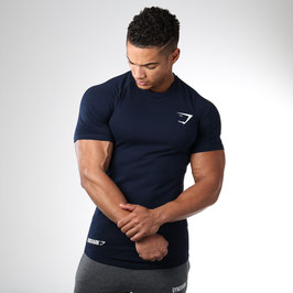GymShark Fit Element T-Shirt Navy