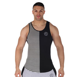 GymShark Luxe Stripe Vest Black / White