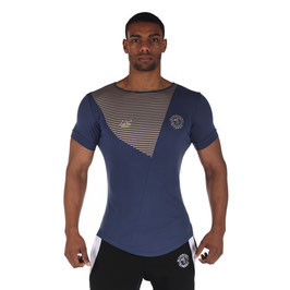 GymShark Luxe T-Shirt Blue / Cream