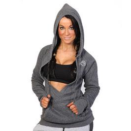 GymShark Ladies V-Hoodie Grey