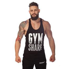 GymShark LoudMouth Stringer Vest schwarz