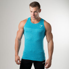 GymShark Phantom Seamless Tank Blue