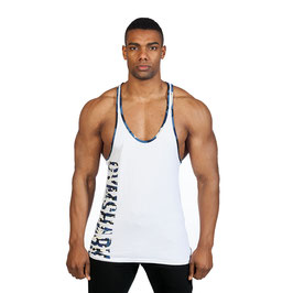 GymShark Valiant Stringer White / Navy