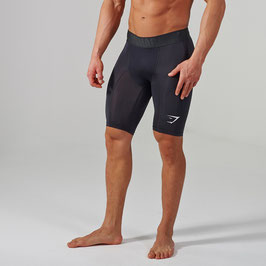GymShark Element Compression Shorts Black/White