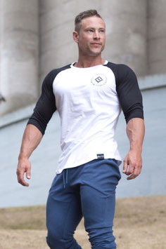 Fitwear Raglan T-Shirt White / Black
