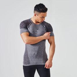GymShark Seamless Devant T-Shirt Black
