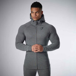 GymShark Fit Hooded Top Charcoal