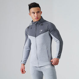 GymShark Fit Hooded Top V2 Charcoal / Grey Marl