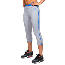 GymShark Fit 3/4 Leggings Grey / Blue