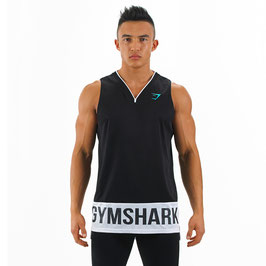 GymShark Court Jersey Black  White