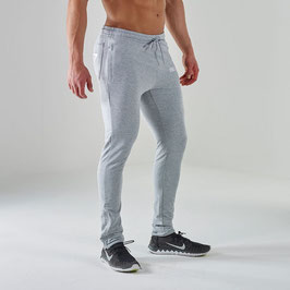GymShark Fit V2 Tapered Bottoms Grey Marl / White