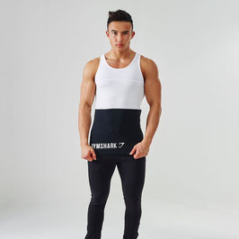 GymShark Fit Tri-Panel Tank White / Black