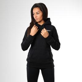 GymShark Womens Crest Pullover Hoodie Black
