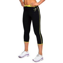 GymShark Fit 3/4 Leggings Black / Neon