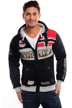 Geographical Norway Zip Hoodie schwarz