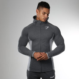 GymShark Fit Hooded Top Charcoal Grey Marl