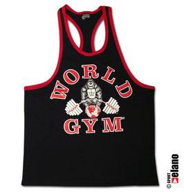 World Gym Classic Stringer black/red