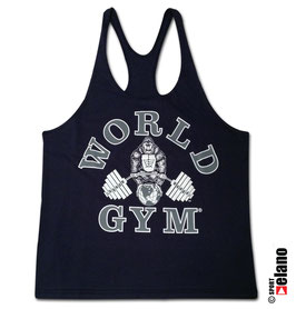 World Gym Classic Stringer navy