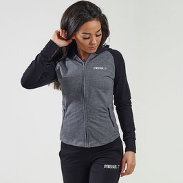GymShark Fit Ladies Hoodie Black /Charcoal